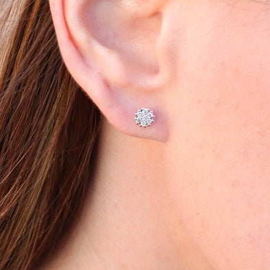 Flower Diamond Studs - 1/5 ctw