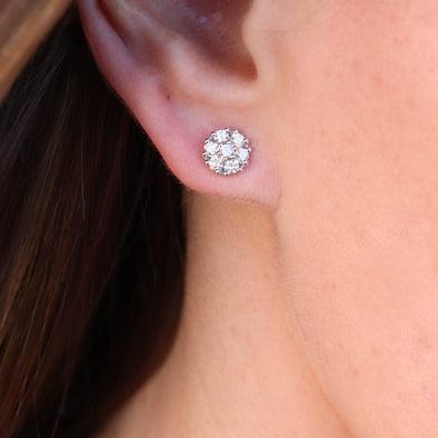 Flower Diamond Studs - 1/2 ctw