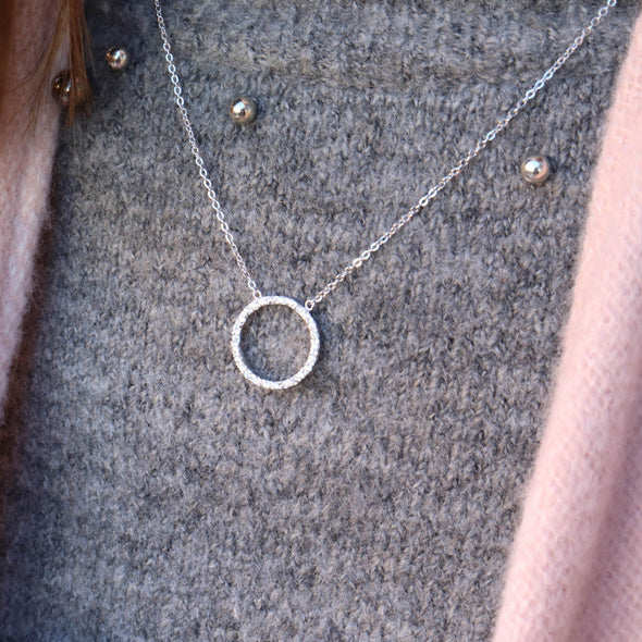 CZ Circle Necklace