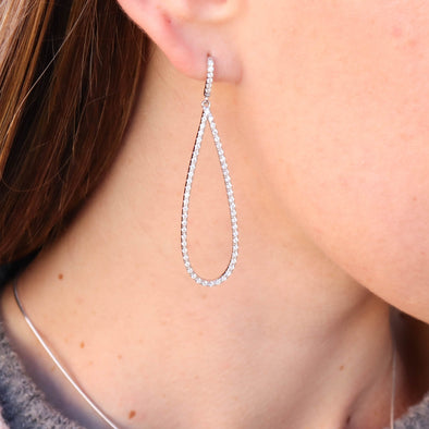 CZ Raindrop Earrings