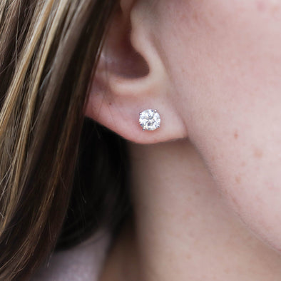 Diamond Solitaire Studs - 1.5 ctw