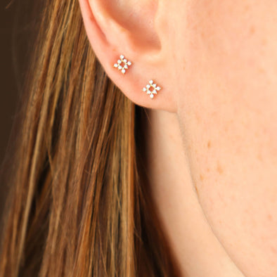 Diamond Mini Starbust Studs