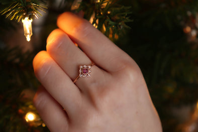 'Esme' Ruby + Diamond Rose Gold Ring