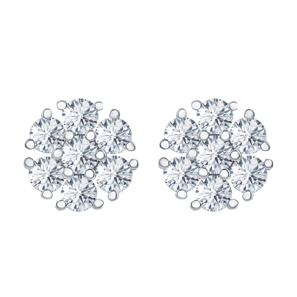 'Bouquet of Diamonds' Studs - 1 ctw
