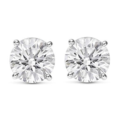 Diamond Solitaire Studs - 3/8 ctw