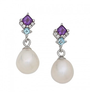 Pearl + Gemstone Earrings