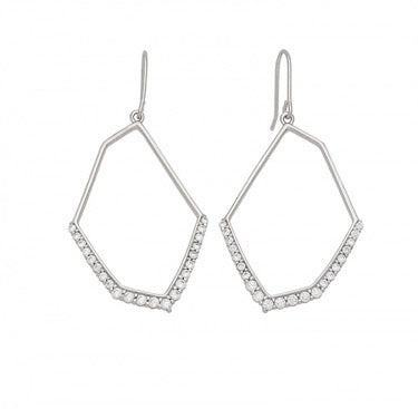 Hexagonal CZ Earrings