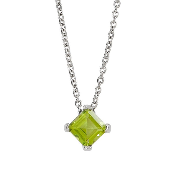 Peridot Solitaire Necklace