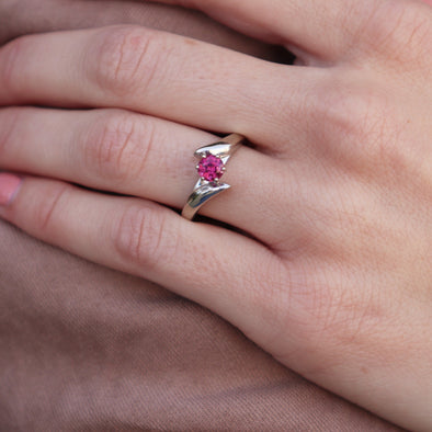 Pink Tourmaline Bypass Ring