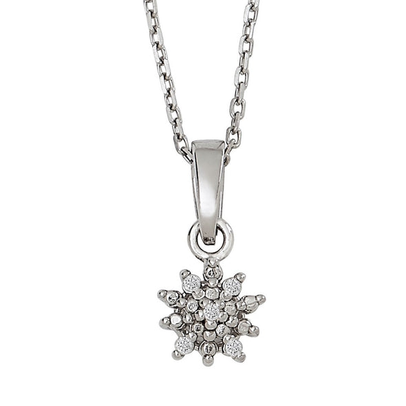 Snowflake Diamond Pendant Necklace