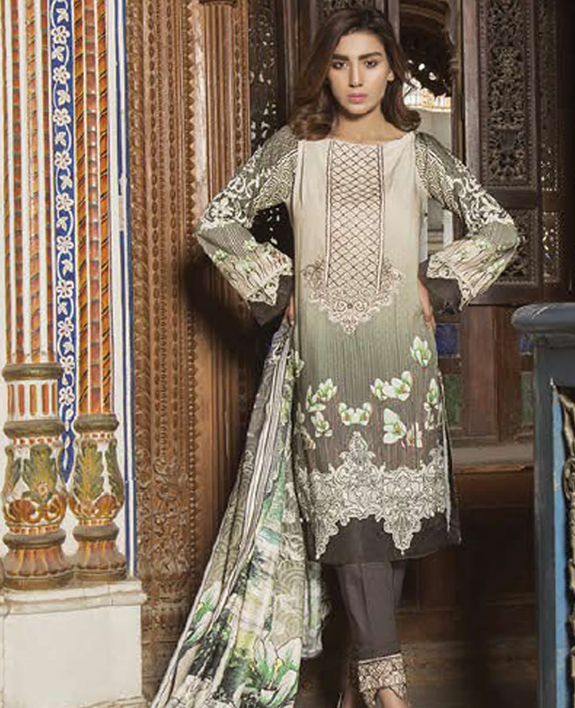 Barouqe Spectrum Embroidered Viscose-3PC