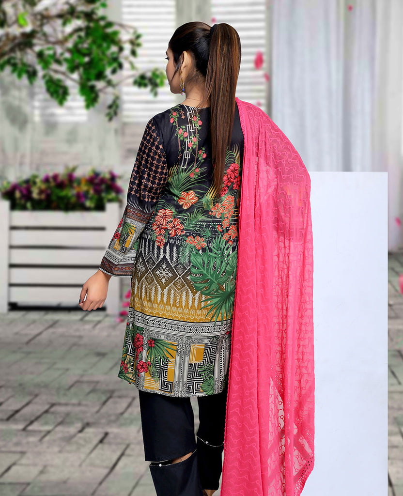 Maya Digital Printed Lawn M-017-3PC