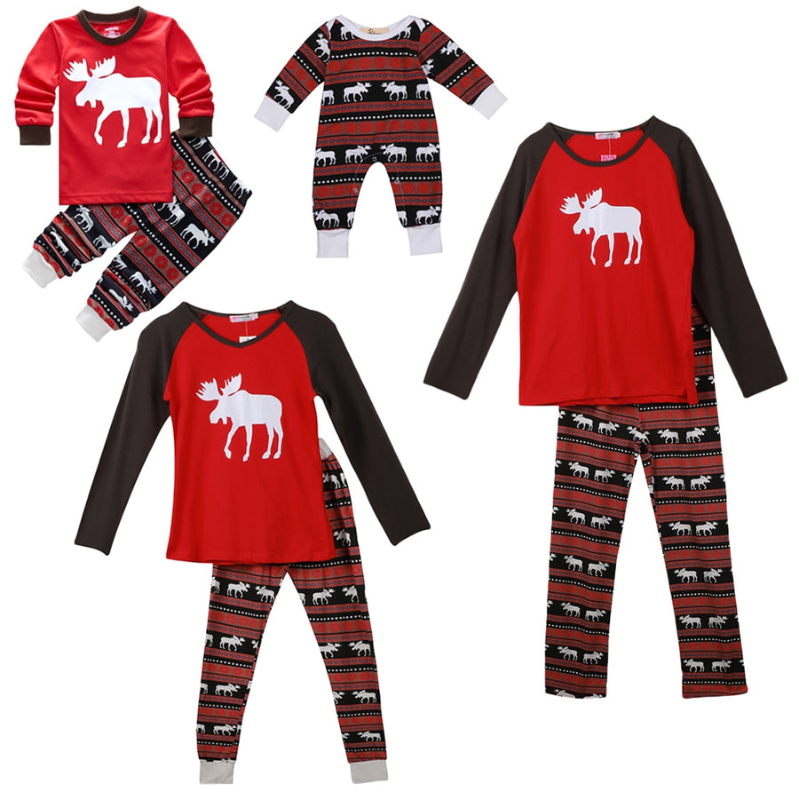 Family Matching Pajama Set: 2020 Christmas Moose Fairy