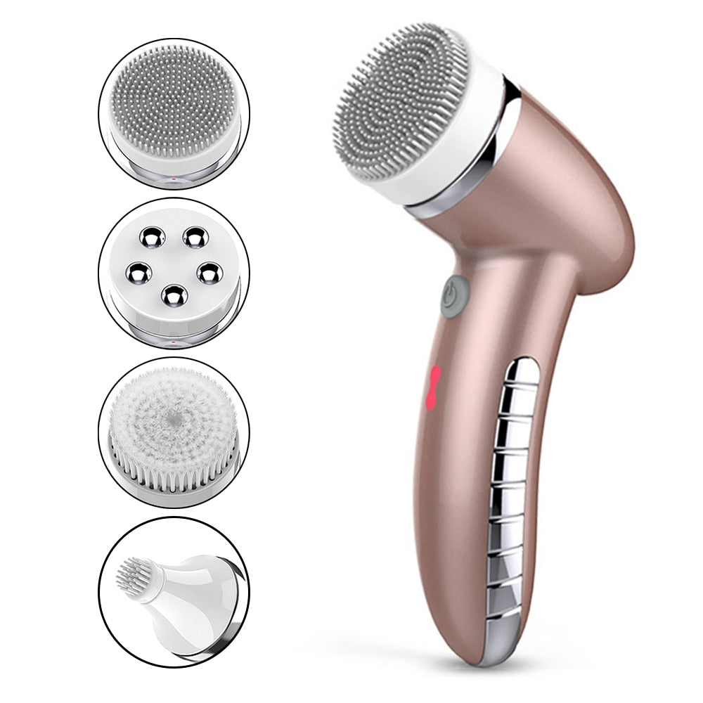 SKINSO 4 In 1 Facial Cleanser Brush