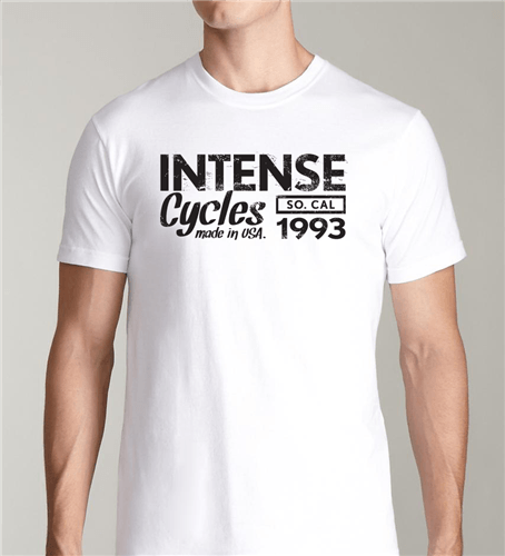 Intense 1993 Tee Softgoods Intense Cycles Inc. White S