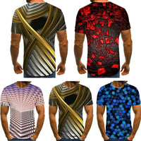 Summer Style Men Fashion Short Sleeve Funny T-shirts The 3D Print Casual T Shirt
