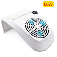 80W 2 IN 1 UV LED Nail Lamp Dryer with Nail Dust Fan Vacuum Cleaner Machine Nail Dust Collector Vacuum Suction Manicure Tools