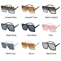 Oversized Shades Women Sunglasses Black Fashion Square Glasses Big Frame Vintage Retro Glasses Female Unisex Oculos Feminino