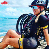 2020 Pro Team Triathlon Costume Women Black Cycling Jersey Skinsuit Jumpsuit Maillot Cycling Clothing Cycling Set