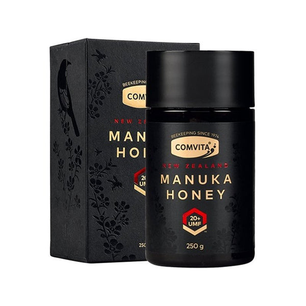 Newest New Zealand Comvita Manuka Honey UMF20+250g for Digestive Immune Health Respiratory System Cough Sooth Coughs Sore Throat