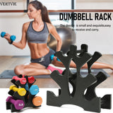 VERTVIE Dumbbell Storage Rack Stand 3-layer Hand-held Dumbbell Storage Rack For Home Office Gym Sport Exercise Accessories