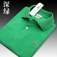 Men Summer Polo Shirt Brand Fashion Cotton Short Sleeve Polo Crocodile Shirts Male Solid Jersey Breathable Tops Tees 2650