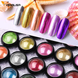 VENALISA Mirror Glitter Acrylic Powder Metallic Color Nail Art UV Gel Polishing Chrome Flakes Pigment Dust Decorations Manicure