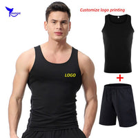 Custom LOGO Men Elastic Sportswear Gym Sport Suits Quick Dry Running Sets Clothes Sports Joggers Training Gym Fitness Tracksuits