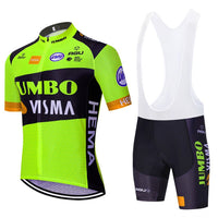 2020 new JUMBO VISMA cycling TEAM jersey 20D bike shorts suit Ropa Ciclismo mens summer PRO bicycle Maillot Pants clothing