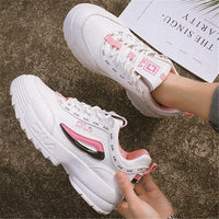 2020 new Brand Wedge Shoes Fashion designers white Sneakers Women leather thick-soled Casual Sports shoes woman Zapatillas Mujer