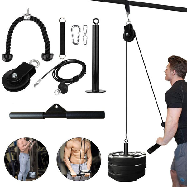 Cable Machine Attachments Tricep Rope D-Handle Pully Optional Gym Fitness Equipment Muscle Strength Training Workout Accessories