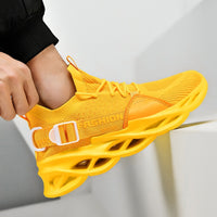 QZHSMY Summer Fashion Men Shoes Hot Large Size Mesh Casual Sneakers Men 2020 Blade Bottom Shoes For Women Support Dropshipping