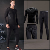 Gym Tight Men's Sportswear Compression Running Sport Set Basketball Sports Clothing Fitness Workout Tracksuit Breathable Jogging
