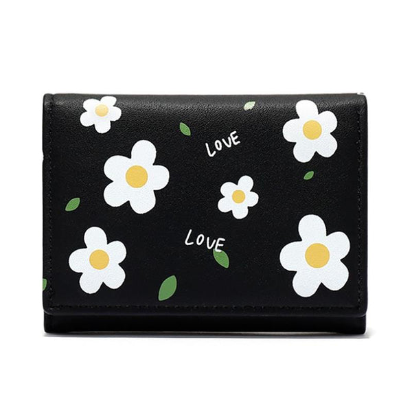 Women Flower Wallets Small Fashion Leather Purse Women Ladies Card Bag For Women 2020 Women Female Purse Money Clip Wallet