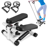 Mini Fitness Twist Stepper Electronic Display Home Exercise Equipment with Resistance Bands Slimming Climbing Machine