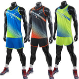 Men Women and Kids Vest+Shorts Sport Suits Competition Running Sets Track and field Clothes Running suit Marathon sportswear