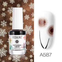 ROSALIND Gel nail polish Air Dry nail polish Ice Flower Lacquer For nail art decoration Need White base coat Gel Varnishes