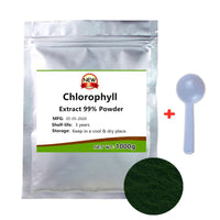 Organic Chlorophyll Extract 99% Powder,Natural Chlorophyl,Vitamin Supplements,Prevent and Anti Cancer, Anti Aging,Protect Liver