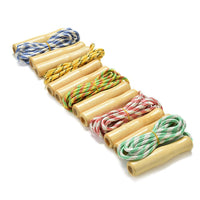 1PC skipping Sports Skipping Rope Practice Speed Jump Random Color Wood Grip Handle Children Kid Fitness Equipment Training