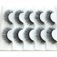 2020 NEW 5 pairs Mink Eyelashes 3D False lashes Thick Crisscross Makeup Eyelash Extension Natural Volume Soft Fake Eye Lashes