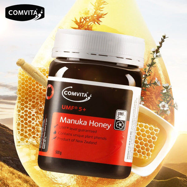 Original NewZealand Comvita Manuka Honey UMF5+500g for Digestive Immune Health Respiratory System Cough Sooth Coughs Sore Throat