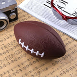 Mini Soft PU Foam Material Brown Anti-stress Rugby Soccer Squeeze Ball Birthday Christmas Gift 180 x 110 x 110mm
