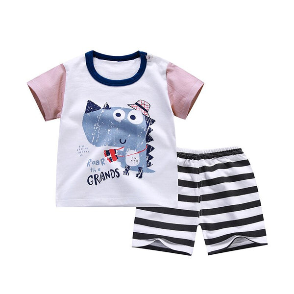 2020 new Children's Sets Summer Short Sleeve boys clothes set cotton girls clothes two-Piece body suit quality kids clothes set