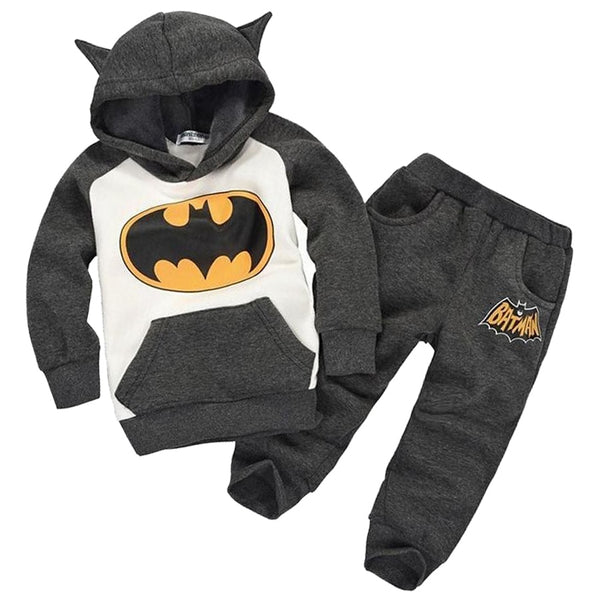 New Batman Baby Girls Boys Clothing Sets Kids Autumn Spring Casual Cotton Suit Children Hoody Coat Tshirt Pants Clothes Set