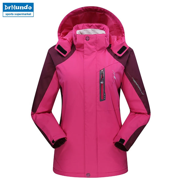 Women ski jacket Mountain Thicken Plus Size Fleece Ski-wear Waterproof Hiking Outdoor Snowboard Jacket Windproof Snow Jacket