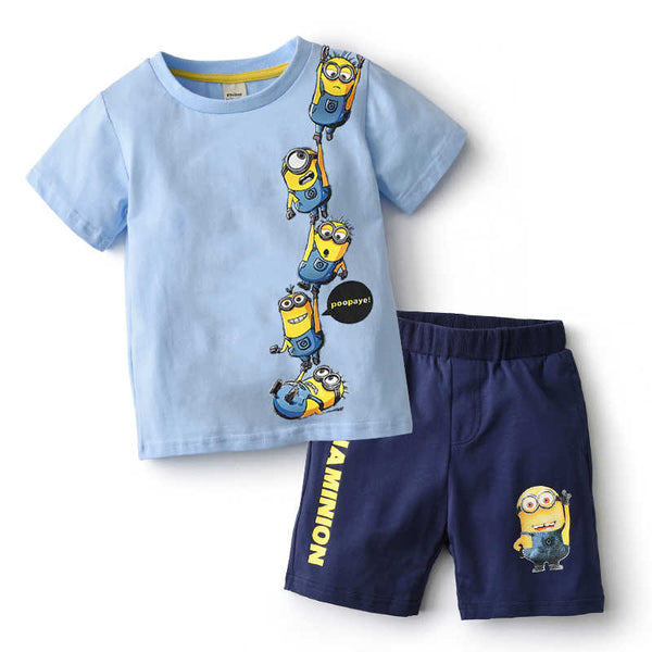 Children Boys Girls Cotton Clothing Set For Toddler Kids Clothes Summer Set Brand 2019 Infant Cartoon Sports Suit 2 3 4 5 Years