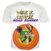 New Roadrunner & wile e coyot series t shirt men women 3D printed novelty fashion tshirt hip hop streetwear casual summer tops