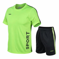 2020 New Men's Tracksuit Gym Fitness Sportswear Quick-drying Sport Suit Clothes Running Jogging Sports Wear Exercise Workout set