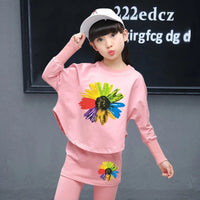 2019 Girls Clothes Sets Autumn Spring Long Sleeve Tops + Pants 2PCS Tracksuit Children Clothing Set Kids Outfit 4 5 6 7 8 Years