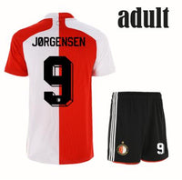 2020 2021 FeyenoordES soccer jerseys adult set V.PERSIE JORGENSEN Berghuis VILHENA new adult FeyenoordES jersey football patches